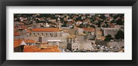 Framed High angle view of a town, Old port, Dominican Monastery to the left, Dubrovnik, Croatia