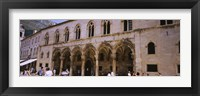 Framed Group of people in front of a palace, Rector's Palace, Dubrovnik, Croatia