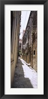 Framed Buildings along an alley in old city, Dubrovnik, Croatia