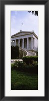 Framed Low angle view of a building, National Library, Athens, Greece