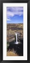 Framed High angle view of a waterfall, Palouse Falls, Palouse Falls State Park, Washington State, USA