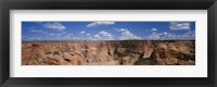 Framed Rock formations on a landscape, South Rim, Canyon De Chelly, Arizona, USA