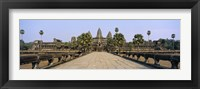 Framed Path leading towards an old temple, Angkor Wat, Siem Reap, Cambodia