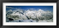 Framed Mountains covered with snow, Matterhorn, Switzerland