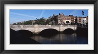 Framed O'Connell Bridge in Republic of Ireland