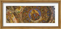 Framed Fresco on the ceiling of a monastery, Rila Monastery, Bulgaria