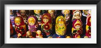 Framed Close-up of Russian nesting dolls, Bulgaria