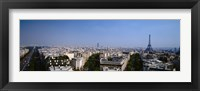 Framed High angle view of a cityscape, Paris, France