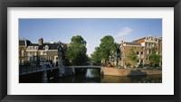 Framed Bridge across a canal, Amsterdam, Netherlands