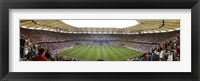 Framed Crowd in a stadium to watch a soccer match, Hamburg, Germany