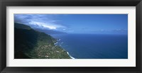 Framed High angle view of a coastline, Boaventura, Sao Vicente, Madeira, Portugal