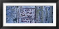 Framed Graffiti on a wall, Berlin Wall, Berlin, Germany