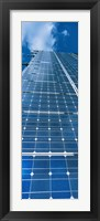 Framed Low angle view of solar panels, Germany