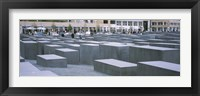 Framed Group of people walking near memorials, Memorial To The Murdered Jews of Europe, Berlin, Germany