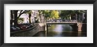 Framed Bridge across a channel, Amsterdam, Netherlands