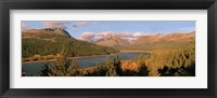 Framed High angle view of a river passing through a field, US Glacier National Park, Montana, USA