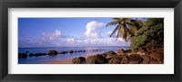 Framed Rocks on the beach, Anini Beach, Kauai, Hawaii, USA