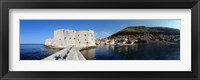 Framed Ruins of a building, Fort St. Jean, Adriatic Sea, Dubrovnik, Croatia
