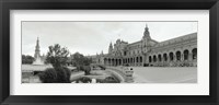 Framed Fountain in front of a building, Plaza De Espana, Seville, Seville Province, Andalusia, Spain