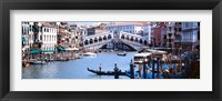 Framed Bridge across a river, Rialto Bridge, Grand Canal, Venice, Italy