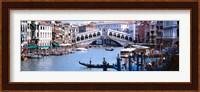 Framed Bridge across a river, Rialto Bridge, Grand Canal, Venice, Italy