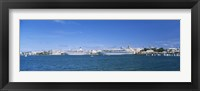 Framed Cruise ships docked at a harbor, Hamilton, Bermuda