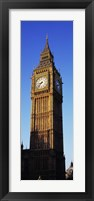 Framed Low angle view of a clock tower, Big Ben, Houses of Parliament, London, England