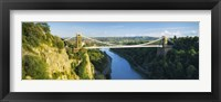 Framed Bridge across a river, Clifton Suspension Bridge, Avon Gorge, Bristol, England