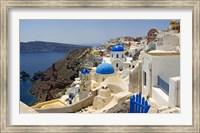 Framed High angle view of a church, Oia, Santorini, Cyclades Islands, Greece