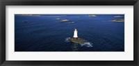 Framed Aerial view of a light house, Sakonnet Point Lighthouse, Little Compton, Rhode Island, USA