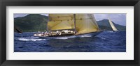 Framed Yacht racing in the sea, Antigua, Antigua and Barbuda
