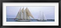 Framed Sailboats in the sea, Narragansett Bay, Newport, Newport County, Rhode Island, USA