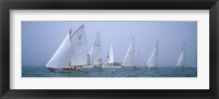 Framed Yachts racing in the ocean, Annual Museum Of Yachting Classic Yacht Regatta, Newport, Newport County, Rhode Island, USA