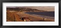 Framed High angle view of a coastline, Redondo Beach, Los Angeles County, California, USA
