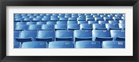 Framed Empty blue seats in a stadium, Soldier Field, Chicago, Illinois, USA