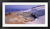 Framed Panoramic view of a geothermal area, Kverkfjoll, Vatnajokull, Iceland