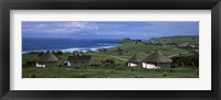Framed Thatched Rondawel huts, Hole in the Wall, Coffee Bay, Transkei, Wild Coast, Eastern Cape Province, Republic of South Africa