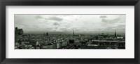 Framed Aerial view of a river passing through a city from Notre Dame de Paris, Seine River, Paris, Ile-de-France, France