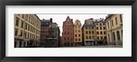 Framed Buildings in a city, Stortorget, Gamla Stan, Stockholm, Sweden