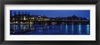 Framed Waterfront at night, Stockholm, Sweden