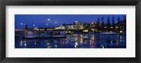 Framed Stockholm, Sweden at night