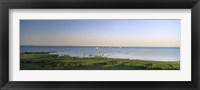 Framed Panoramic view of a lake, Lake Victoria, Great Rift Valley, Kenya