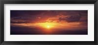 Framed Sunset over the sea, Aegina, Saronic Gulf Islands, Attica, Greece