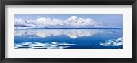 Framed Reflection of a mountain range in an ocean, Bellsund, Spitsbergen, Svalbard Islands, Norway