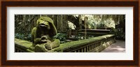 Framed Statue of a monkey in a temple, Bathing Temple, Ubud Monkey Forest, Ubud, Bali, Indonesia