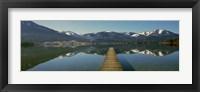 Framed Pier over on a lake, Wolfgangsee, St. Wolfgang, Salzkammergut, Upper Austria, Austria