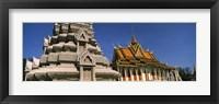 Framed Pagoda near a palace, Silver Pagoda, Royal Palace, Phnom Penh, Cambodia