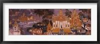 Framed Ramayana murals in a palace, Royal Palace, Phnom Penh, Cambodia