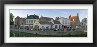 Framed Buildings at the waterfront, Bruges, West Flanders, Belgium