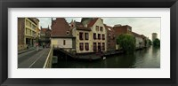 Framed Buildings at the waterfront, Patershol, Ghent, East Flanders, Flemish Region, Belgium